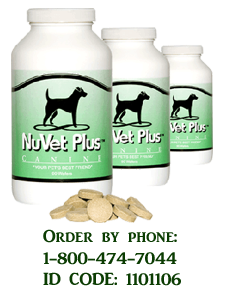 Click Here to order NuVet Supplement